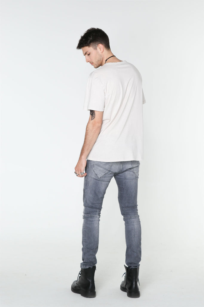 Light Grey Washed Out T-SHIRT