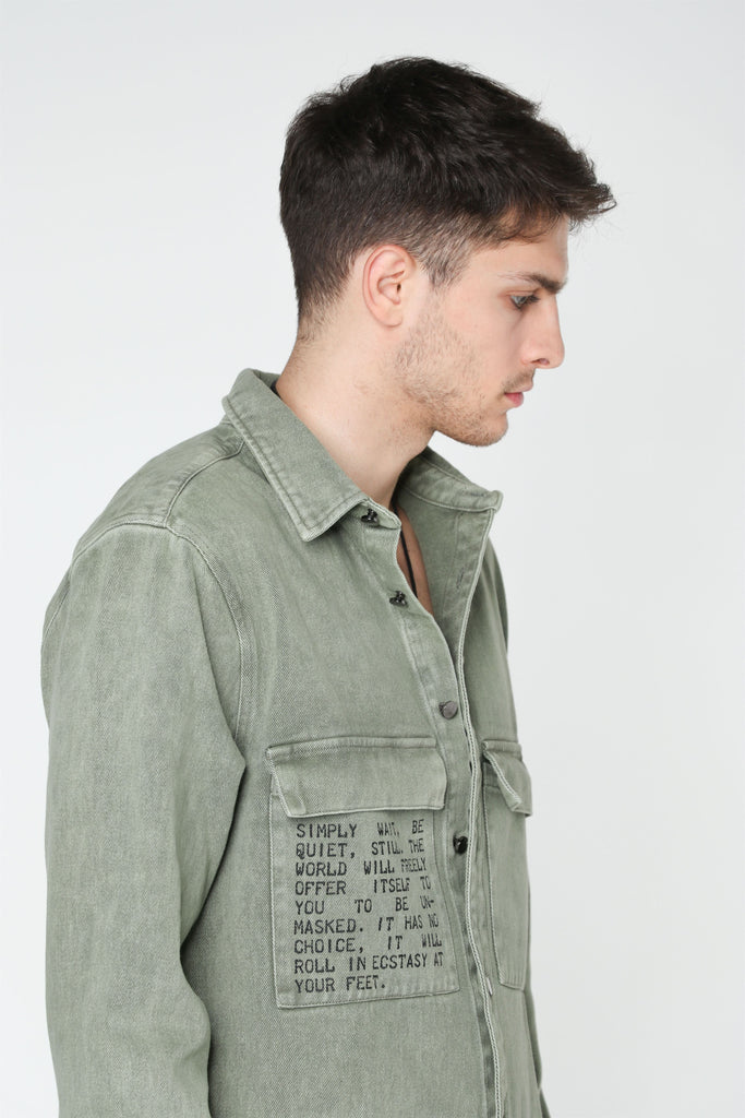 UNMASKED DENIM SHIRT