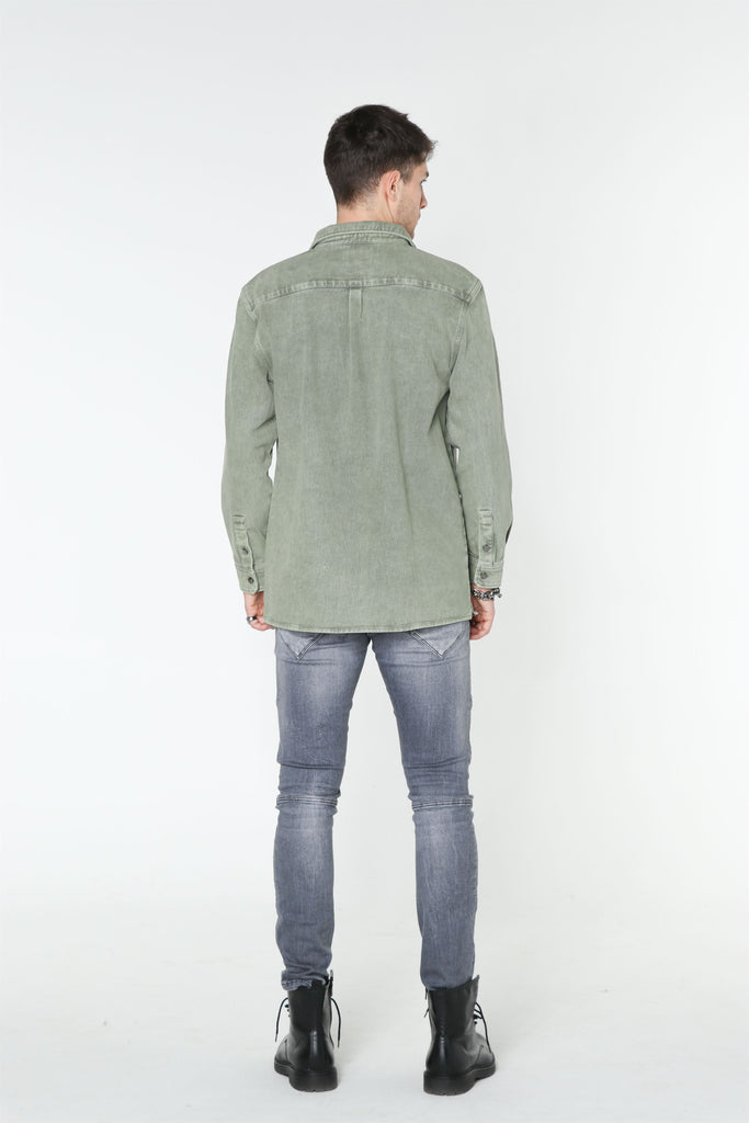 Green DENIM Shirt