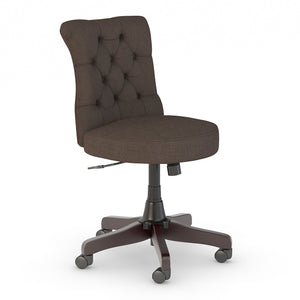 Bush Business Furniture Arden Lane Mid Back Tufted Office Chair | Brown Fabric
