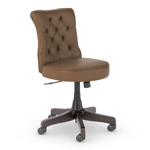 Bush Business Furniture Arden Lane Mid Back Tufted Office Chair | Saddle Leather