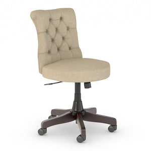 Bush Business Furniture Arden Lane Mid Back Tufted Office Chair | Tan Fabric