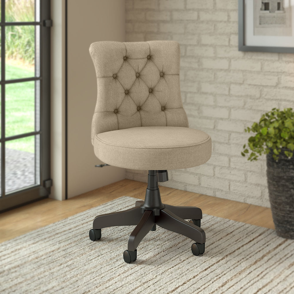 Bush Business Furniture Arden Lane Mid Back Tufted Office Chair Tan Lps Office Interiors