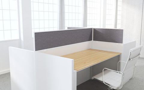 Cubicle Panel Extenders Aluminum Frame Graphite Fabric