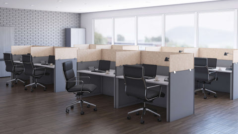 Cubicle Panel Extenders Base Acoustical Sand Unframed
