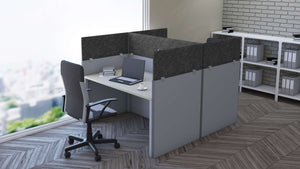 Cubicle Panel Extenders Base Acoustical Shadow Unframed