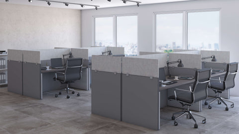 Cubicle Panel Extenders Base Acoustical Stone Unframed