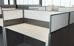 Cubicle Panel Extenders Black Frame White Polycarbonate