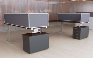 Desk Mounted Privacy Panels E4 D2 Ma Min