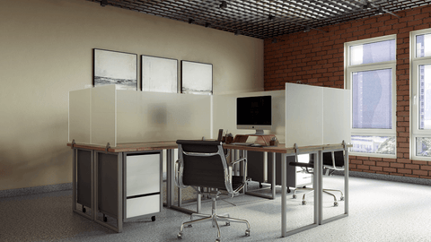 Desk Mounted Privacy Panels Frosted Acrylic Desk Mount