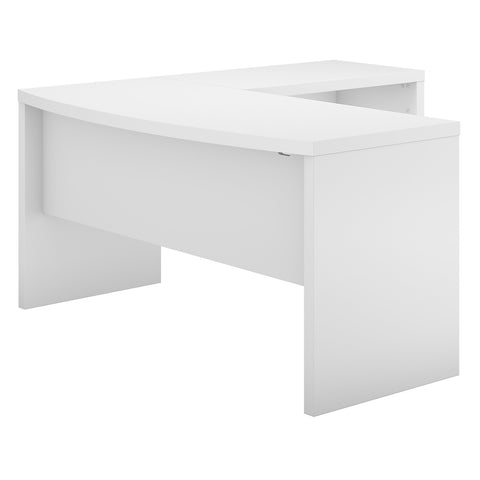 Office by kathy ireland® Echo L Shaped Bow Front Desk | Pure White