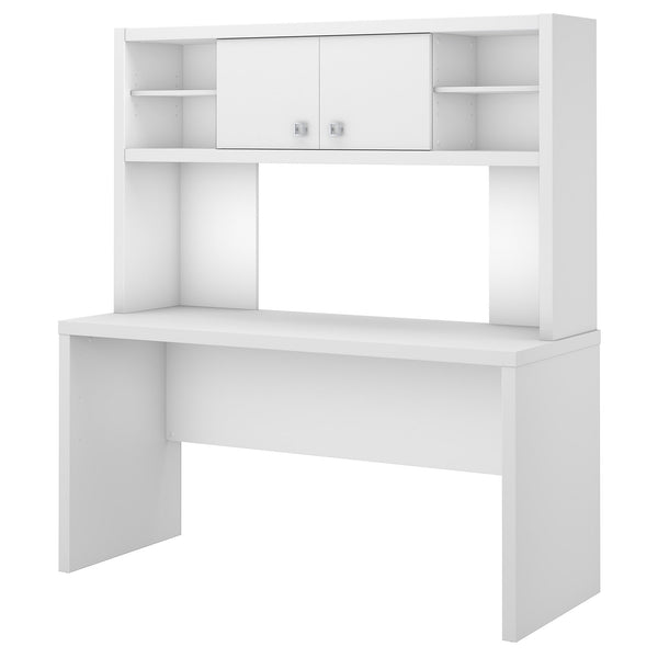 Office by kathy ireland® Echo 60W Credenza Desk with Hutch | Pure White