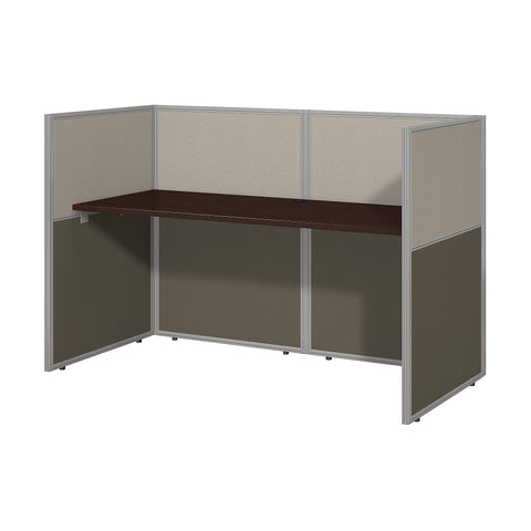 Bush Business Furniture Easy Office 60W Straight Desk Closed Office | Mocha Cherry