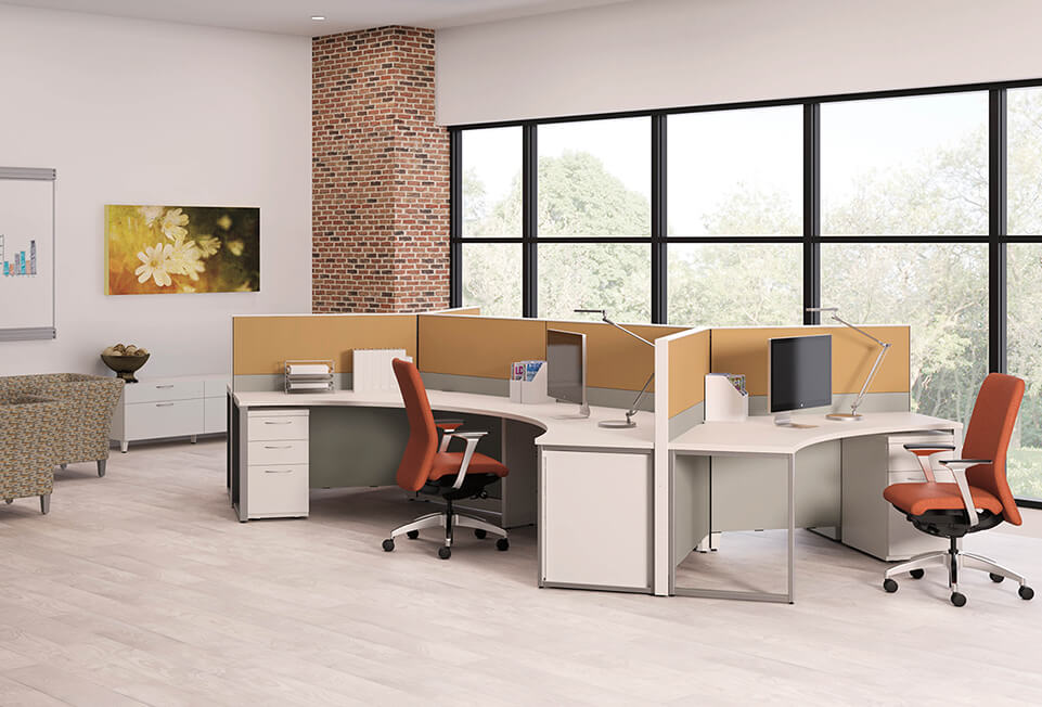 HON Abound Open Base 120 Nucleus Flock Flagship Cubicles & Workstations