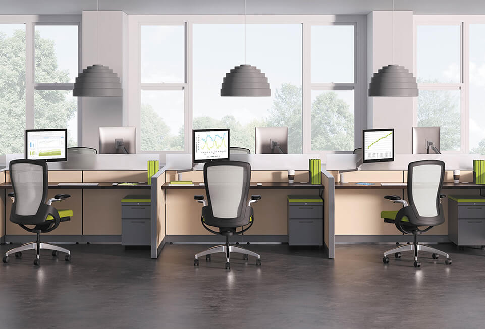 HON Abound Open Base Ceres Flagship Cubicles & Workstations