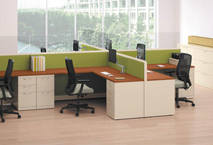HON Accelerate Endorse Frameless Glass Cubicles & Workstations