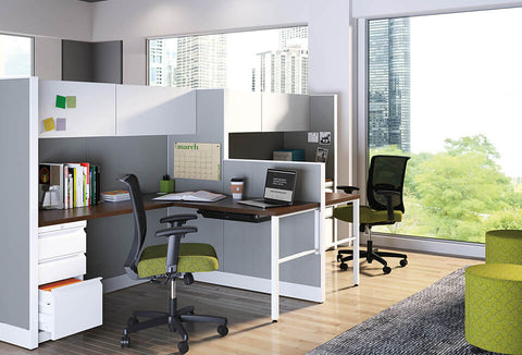 HON Accelerate Convergence Flock Cubicles & Workstations