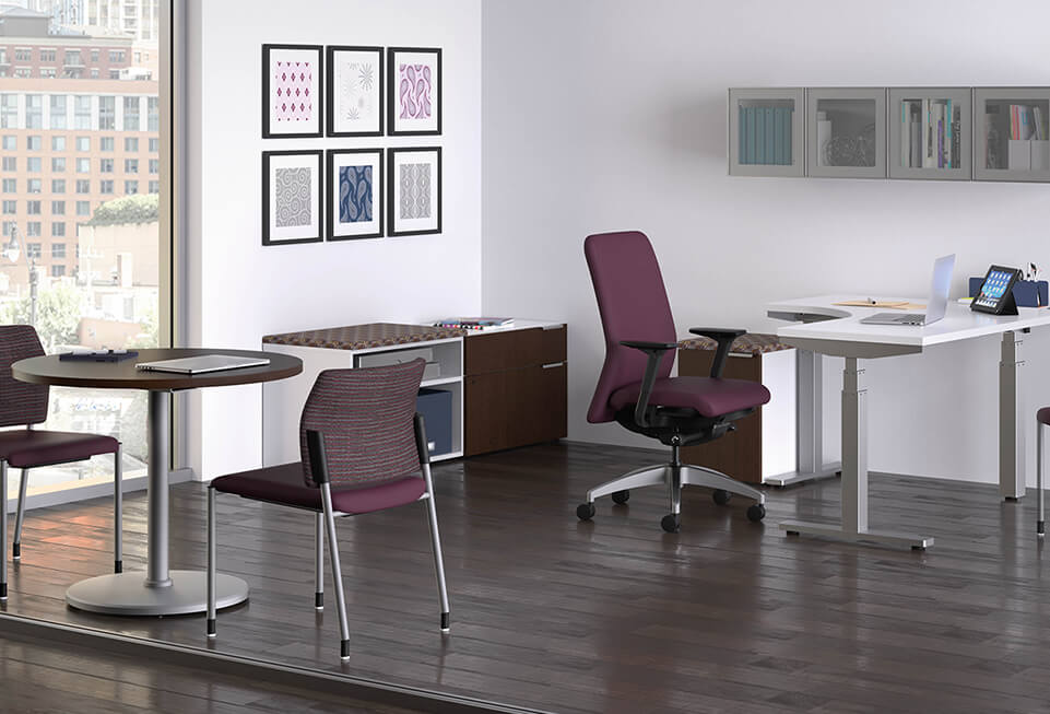 HON Coordinate Private Office Sit-To-Stand