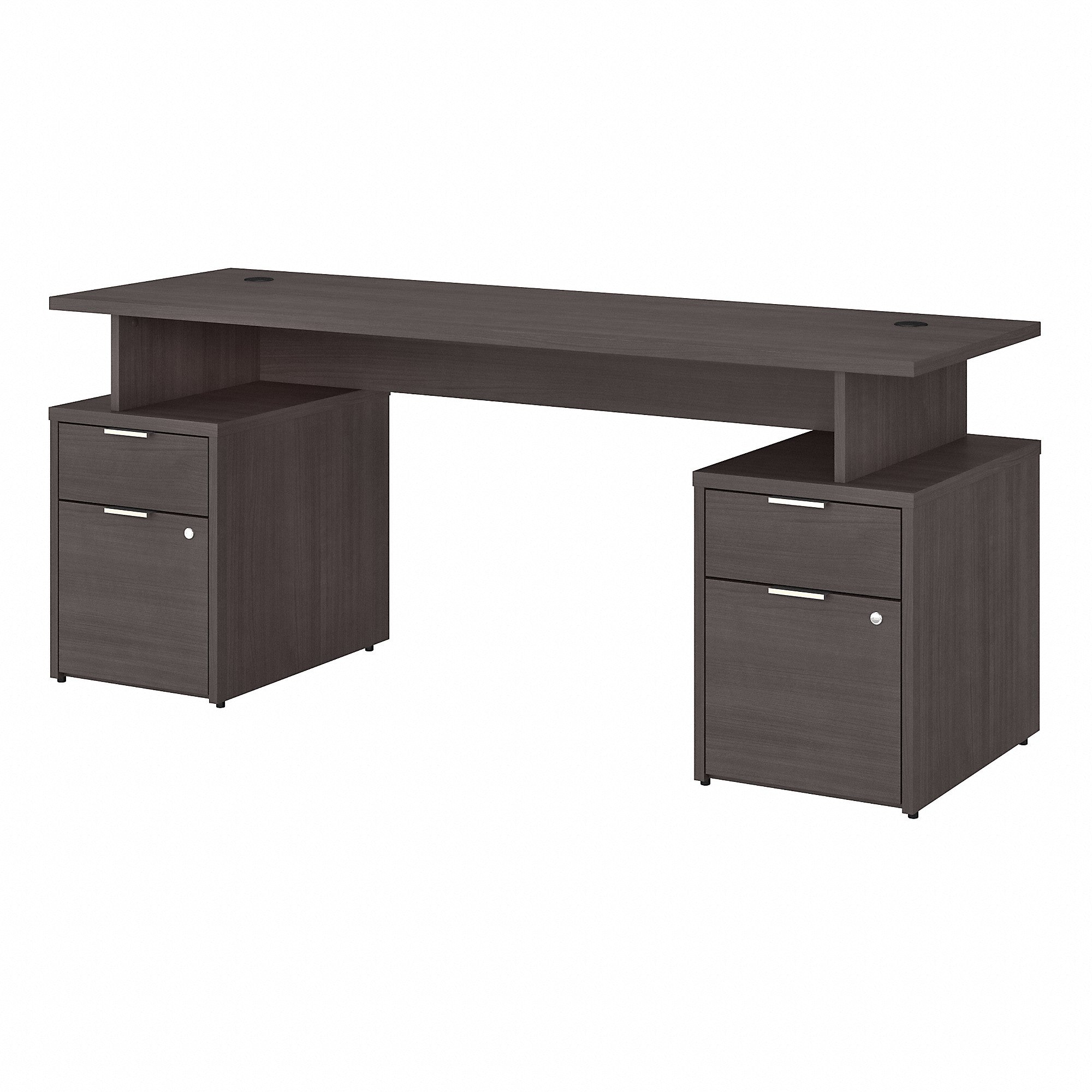 Bush Business Furniture Jamestown 72W Desk with 4 Drawers | Storm Gray