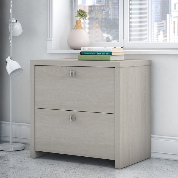Office by kathy ireland® Echo Lateral File Cabinet | Gray Sand