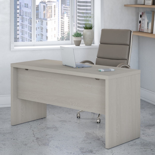 Office by kathy ireland® Echo 60W Credenza Desk | Gray Sand