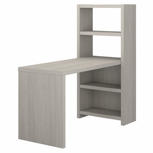 Office by kathy ireland Echo 56W Bookcase Desk | Gray Sand