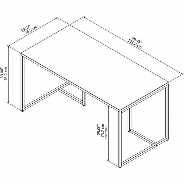 Office by kathy ireland Method 60W Table Desk | White
