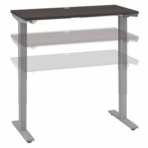 Move 40 Series by Bush Business Furniture 48W x 24D Electric Height Adjustable Standing Desk | Storm Gray/Cool Gray Metallic