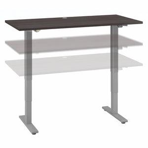 Move 40 Series by Bush Business Furniture 60W x 30D Electric Height Adjustable Standing Desk | Storm Gray/Cool Gray Metallic