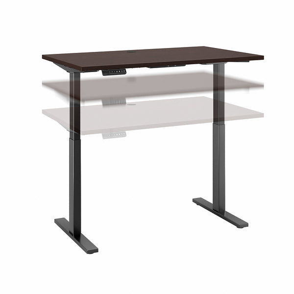 Bush Business Furniture Move 60 Series 48W x 24D Height Adjustable Standing Desk| Modern Hickory