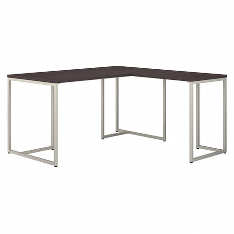 Office by kathy ireland® Method 60W L Shaped Desk with 30W Return | Storm Gray