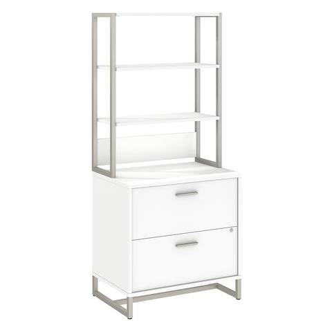 Office by kathy ireland® Method Lateral File Cabinet with Hutch | White