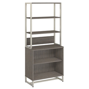 Office by kathy ireland® Method Bookcase with Hutch | Cocoa