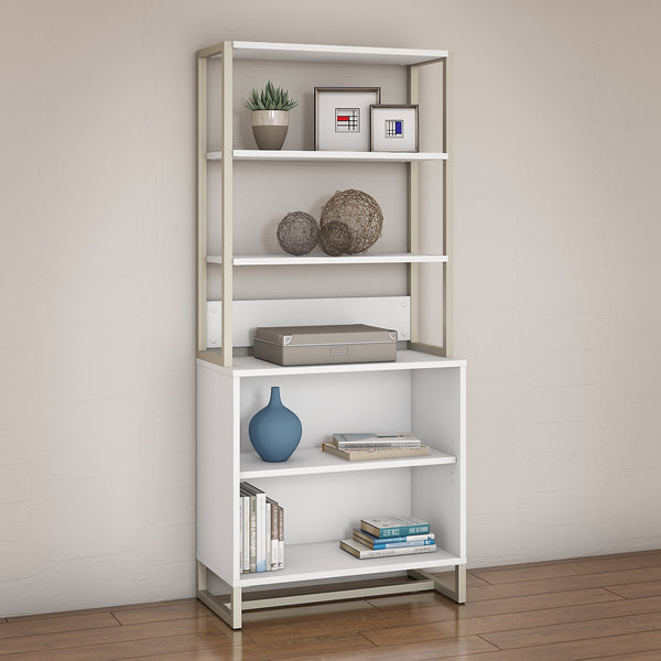 Office by kathy ireland® Method Bookcase with Hutch | White
