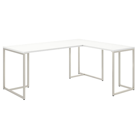 Office by kathy ireland® Method 72W L Shaped Desk with 30W Return | White