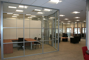 NXTWALL Flex Series Curved Wall Glass Office