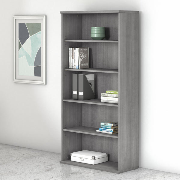Bush Business Furniture Studio C 5 Shelf Bookcase | Platinum Gray