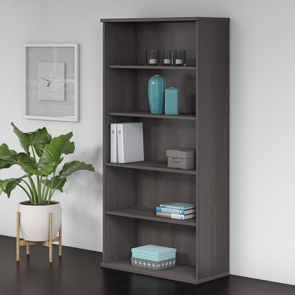 Bush Business Furniture Studio C 5 Shelf Bookcase | Storm Gray
