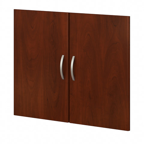 Bush Business Furniture Studio C Bookcase Door Kit | Hansen Cherry