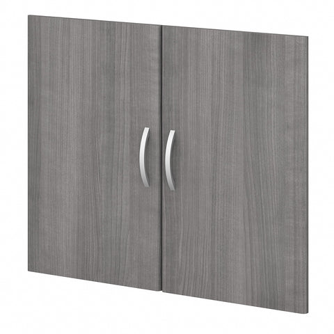 Bush Business Furniture Studio C Bookcase Door Kit | Platinum Gray