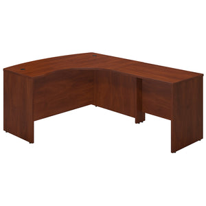 Bush Business Furniture Series C Elite 60W x 43D Right Handed Bow Front L Shaped Desk with 36W Return | Hansen Cherry