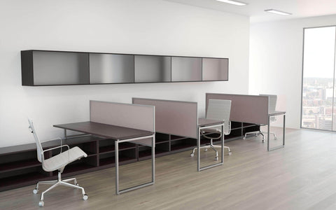 Split Screen Panels Aluminum Frame Silky Fabric
