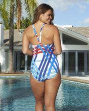 Load image into Gallery viewer, Hi Neck Racer Back One-Piece Adjustable Straps Set Sail