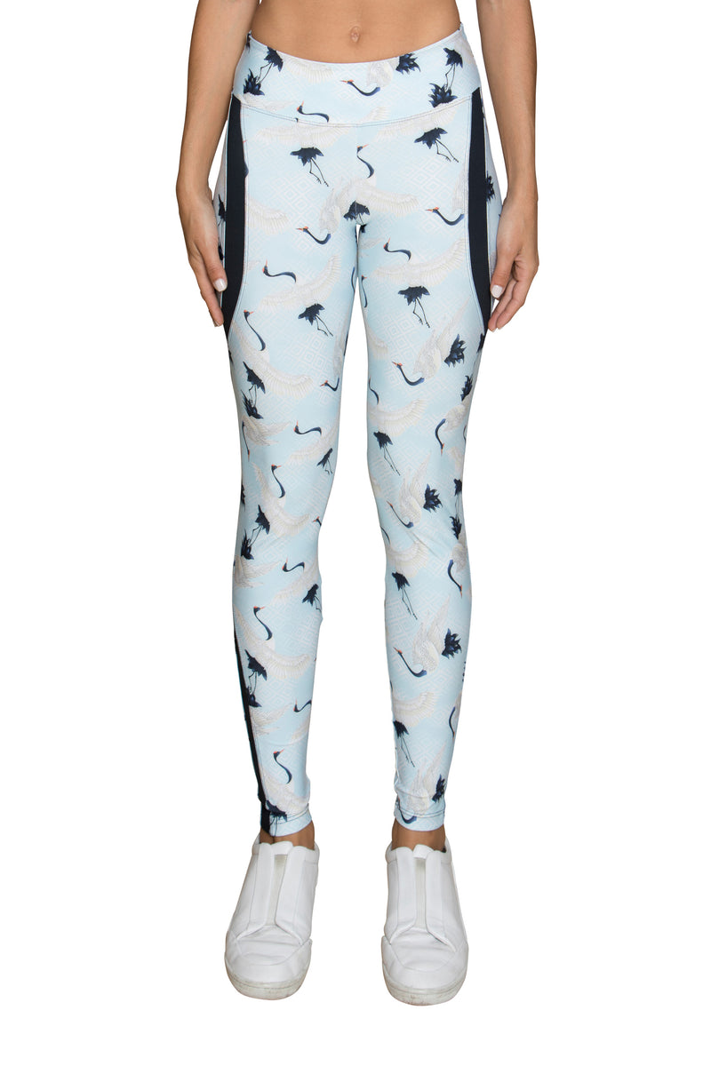 925 Fit Pur'sistence Leggings - Light Blue Birds