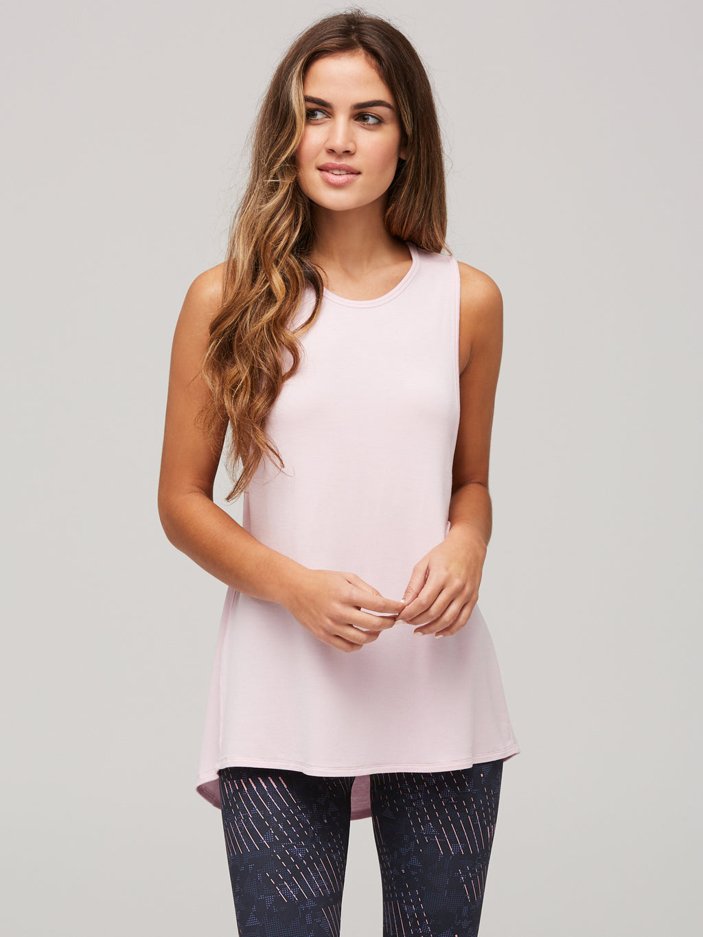 Peony Freedom Tank- combed pink