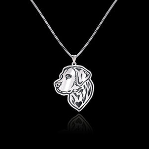 Labrador Retriever Head Metal Pendant Necklace