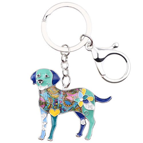 Enamel Labrador Retriever Dog Key Chain