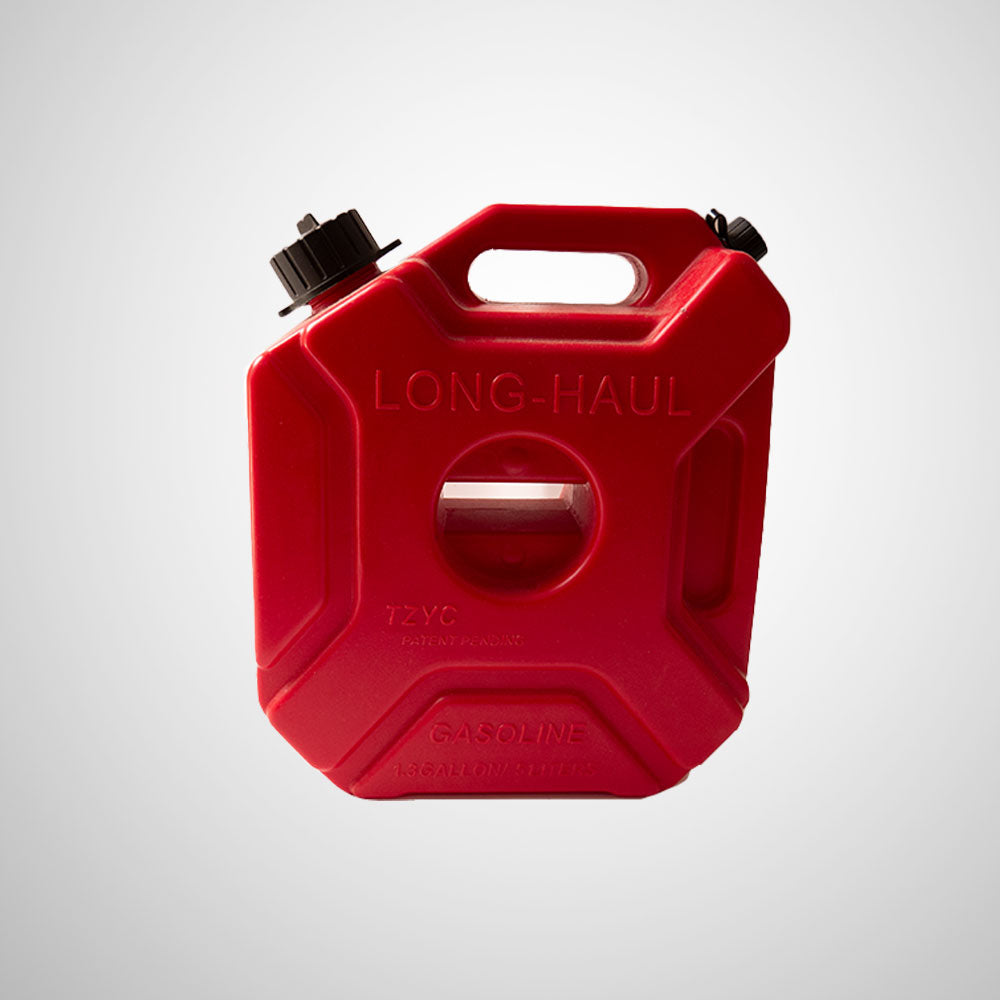 JERRY CAN For Motorcycle (RED) - 5 Ltr With BRACKET