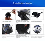 Vnetphone V6 Bluetooth Helmet Intercom Headset for 6 Riders (Single Unit)