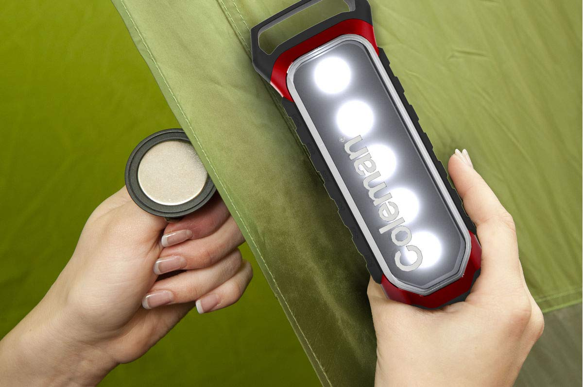 Coleman 2 Way Panel LED Light Plus, with Battery lock
